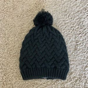 Cable Knit Plush Lined Hat